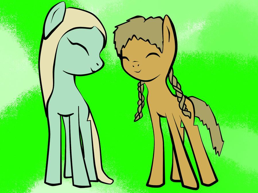 Cornelia and Elyon by Keytee-chan
