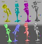 My slimegirls fusions pack one: Boyish and Girly.
