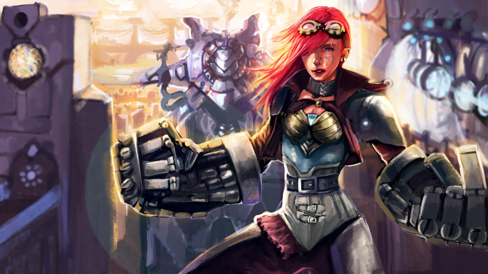 Vi- League of legends fanart by Dragonflamebg on DeviantArt
