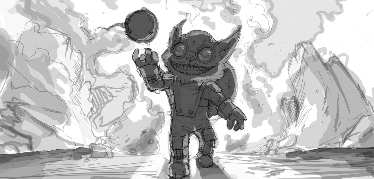 Ziggs sketch by Dragonflamebg