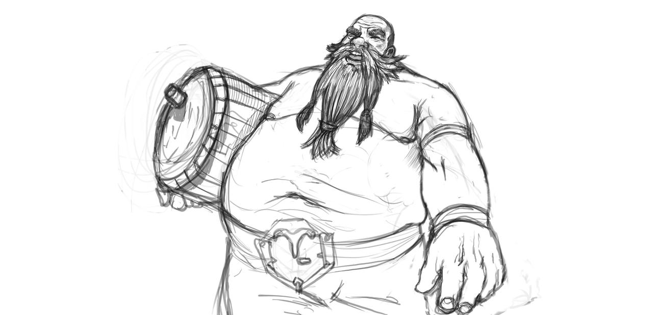 Gragas sketch by Dragonflamebg