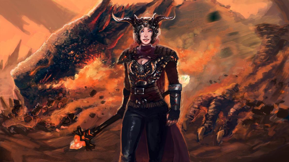 Dragonslayer Lux-helmet on by Dragonflamebg