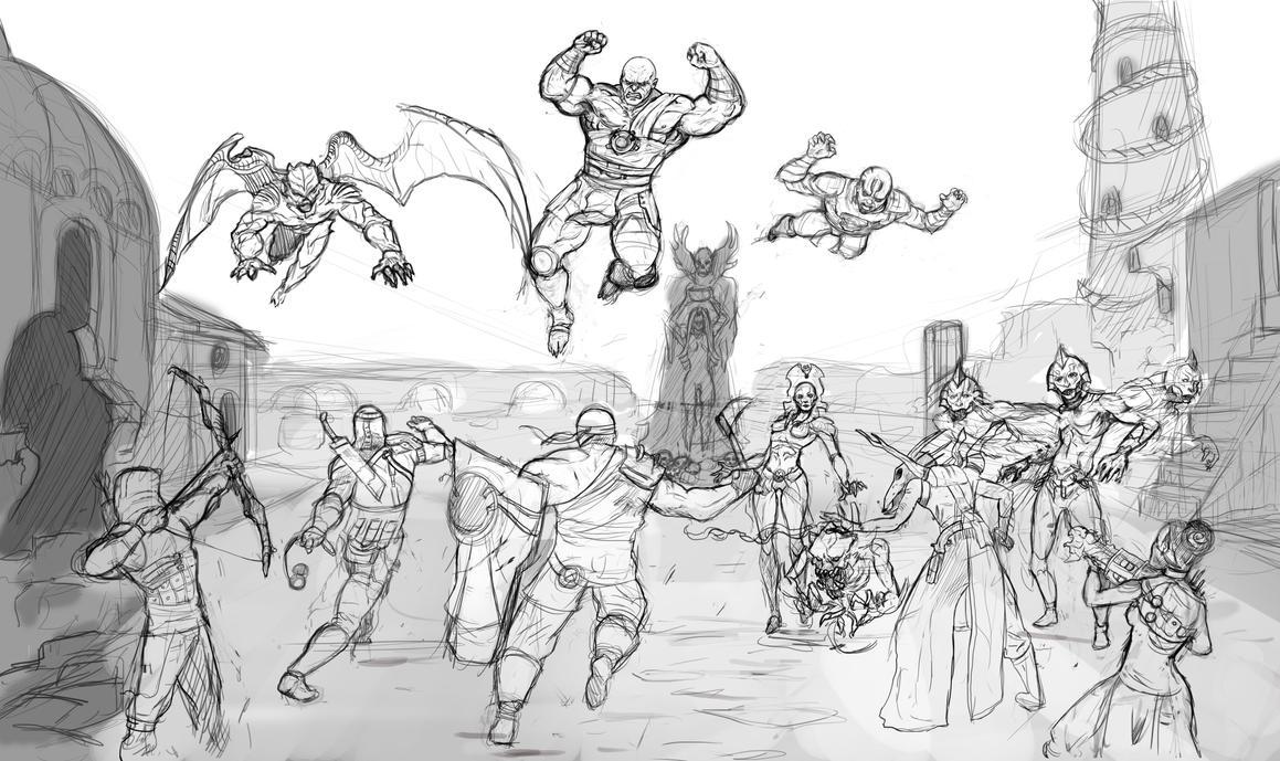 Nosgoth Fanart Contest-sketch by Dragonflamebg