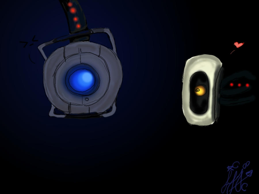 Wheatley And Glados