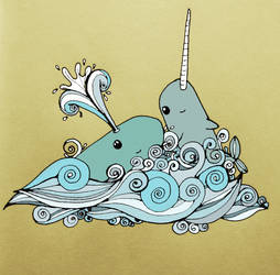 narwhals and whales