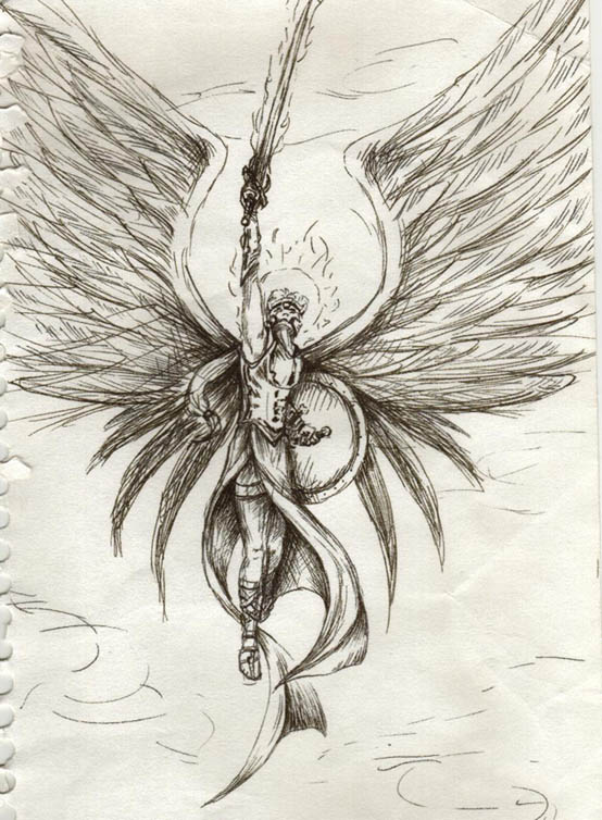 Warrior Angel by Tessarae on DeviantArt