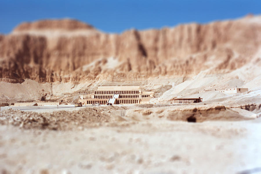 Tilt-shift  Queen Hatshepsut s Tomb by honouraryweasleyQueen Hatshepsut Tomb Discovered