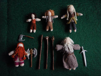 Micro-crochet Fellowship of the Ring (detail)