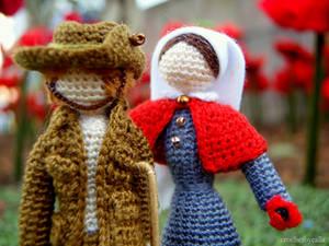 Micro-crochet WWI Anzacs