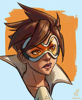 Tracer Portrait by vanillaGui