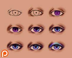 Eyes Tutorial by Namwhan-K
