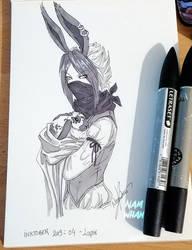Inktober 2019 day 4 - Rabbit