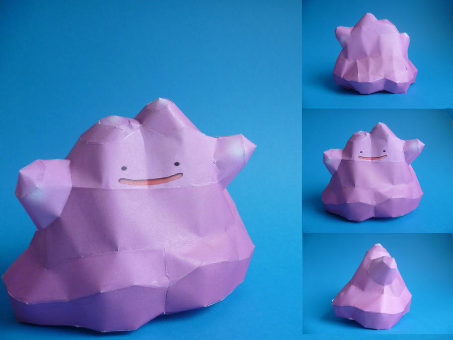 ditto papercraft by epikachu