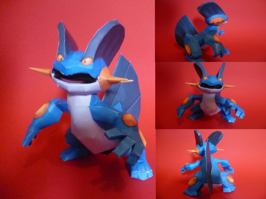 swampert papercraft by epikachu