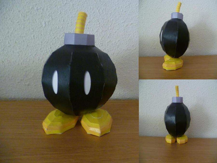 bom-omb papercraft by epikachu