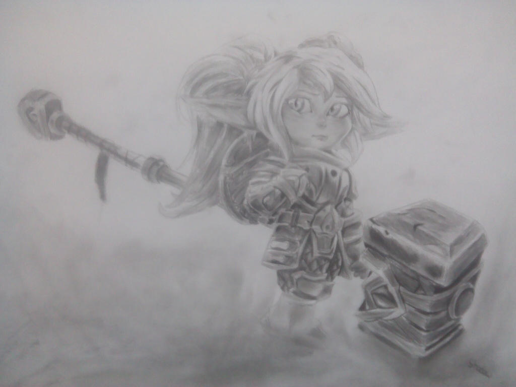 Poppy the keeper of the hammer by masterofshadows798