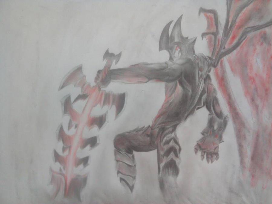 Aatrox the Darkin's blade by masterofshadows798