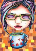 Miranda May Coffee Girl by bryancollins