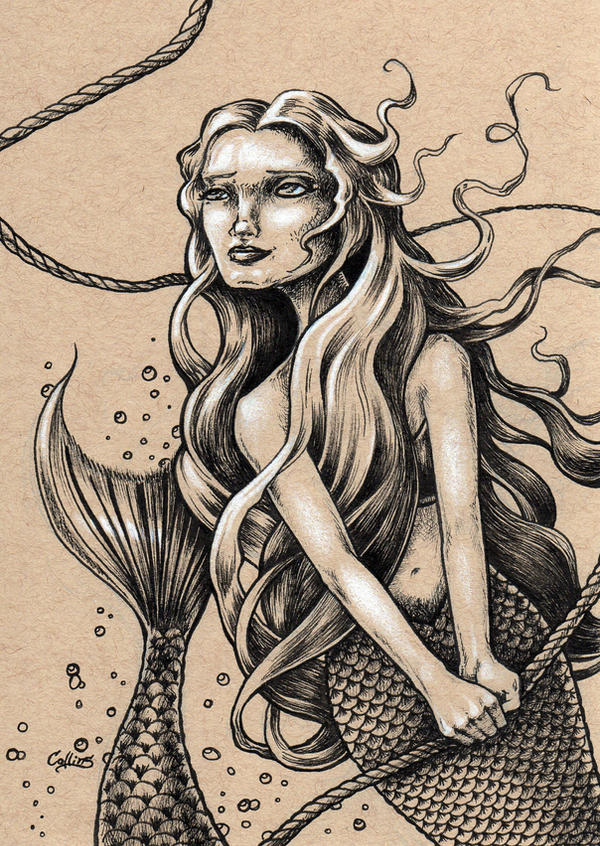 Mermaid with Rope by bryancollins