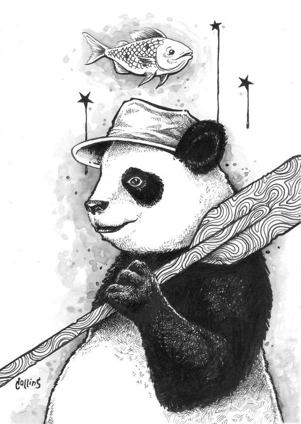 Panda Oar Fisherman by bryancollins