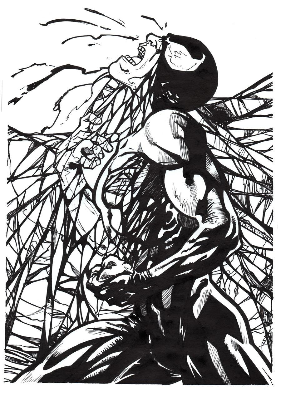 Venom Coloring Pages Lego Venom Spider Marvel Heroes: Venom Spiderman By Saruxaxa On DeviantArt