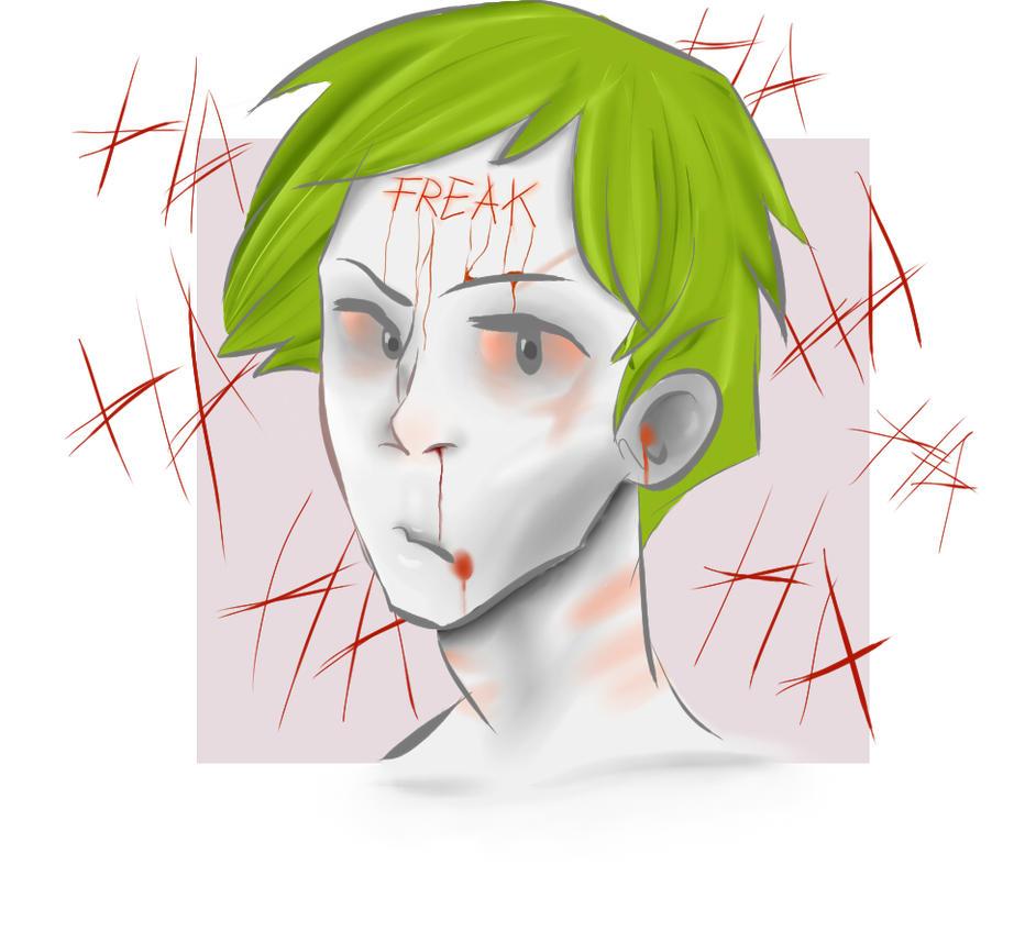 Joker fanart (freak) by moonemi