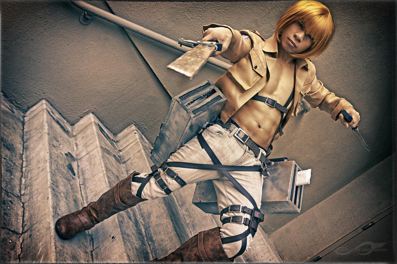 titan cosplay on Attack armin