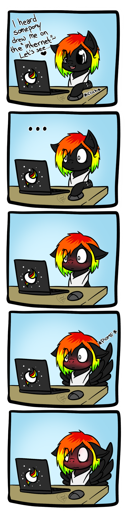 Spectral's Reaction to Rule 34 by DragonGirl983