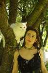 With white cat 04