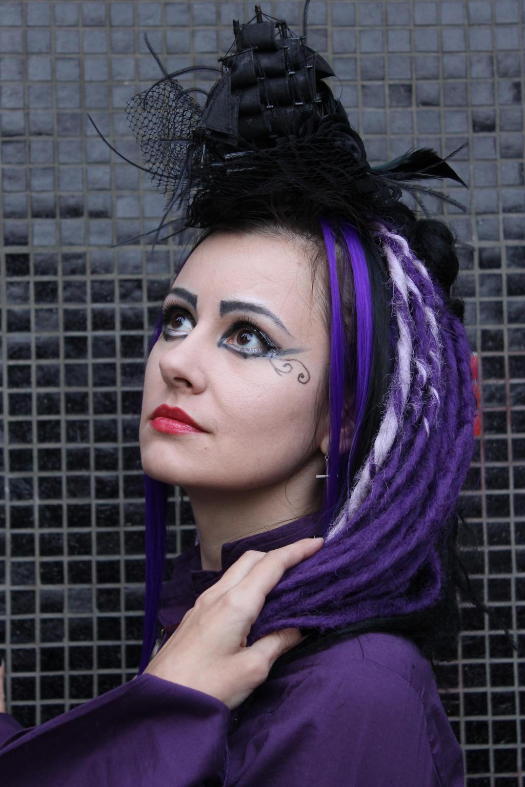 purple dreadlocks 01 by Anna-LovelyMonster
