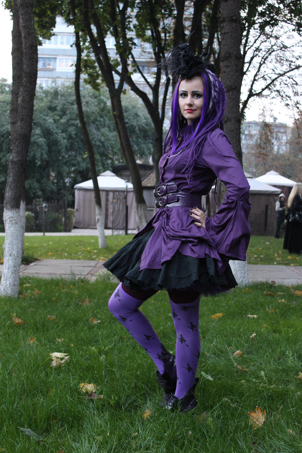 purple dreadlocks 04 by Anna-LovelyMonster