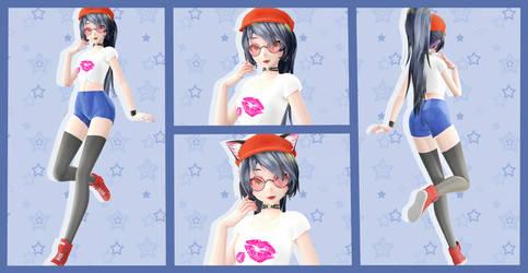 MMD TDA OC- Ryoko [DL by Note] by LoveDarkAlessha