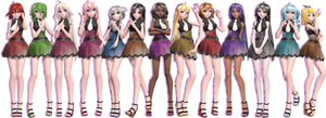 TDAxVocaloid - Galaxy Chicks Pack [Note me for dl]