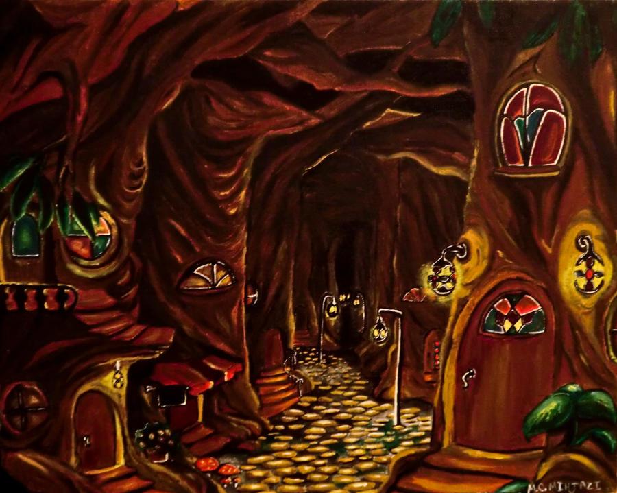 The Tree Village of Castor. by TheForsakenSailor