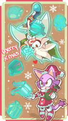 Silver and Blaze wish you a Merry Christmas by chibiirose