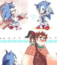 Ralph Breaks the Internet ft. Sonic by chibiirose