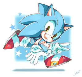 just plain Sonic by chibiirose