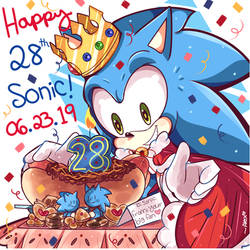 28 YEARS OF SONIC! by chibiirose