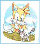 Tails and cat