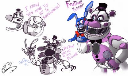 Funtime Freddy Sketch | FNAF Sister Location  by AngosturaCartoonist