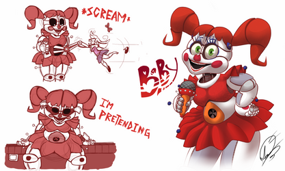 Circus Baby Sketch | FNAF Sister Location by AngosturaCartoonist