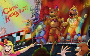 Freddy Fazbears Pizzeria Simulator | Fan Art by AngosturaCartoonist