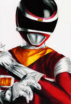 Power Rangers In Space - Red Space Ranger