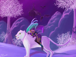 Night elf (World of Warcraft) my avatar2 by Anna-Miumaru