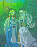 Elven Sailor Moon and Venus in Jungle. by Anna-Miumaru