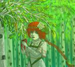 birch forest by Anna-Miumaru