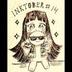 Inktober 2017 | #14 Cool teddy by AngelLinx3