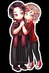 YCH couple commission | Kiyomitsu x Ahri by AngelLinx3