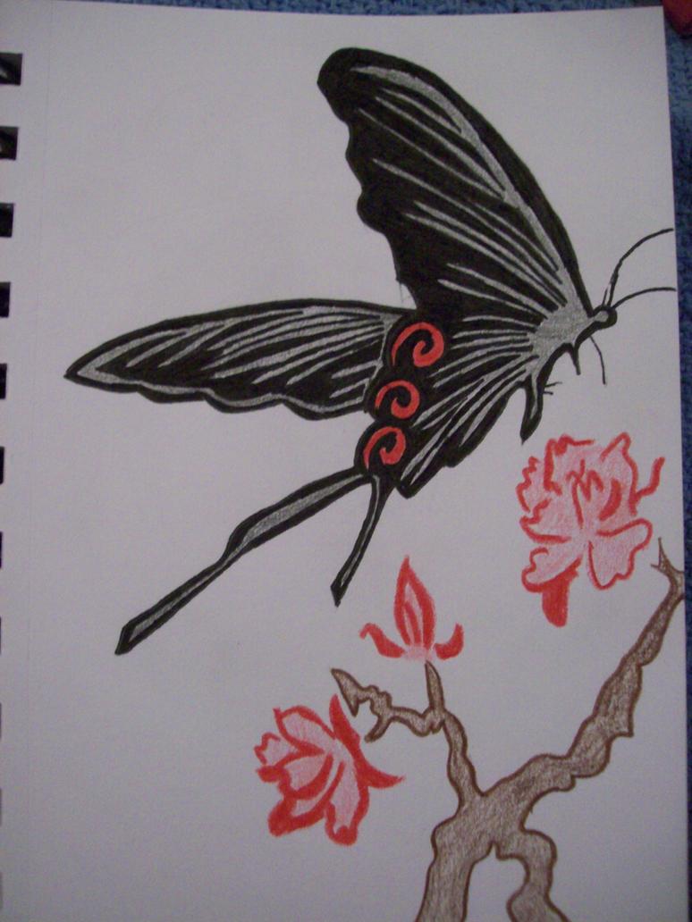 hell butterfly tattoo design by evilangel9966 on deviantart. Black Bedroom Furniture Sets. Home Design Ideas