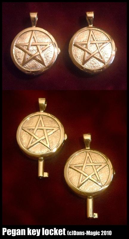 Sterling Pegan Key Lockets by Dans-Magic